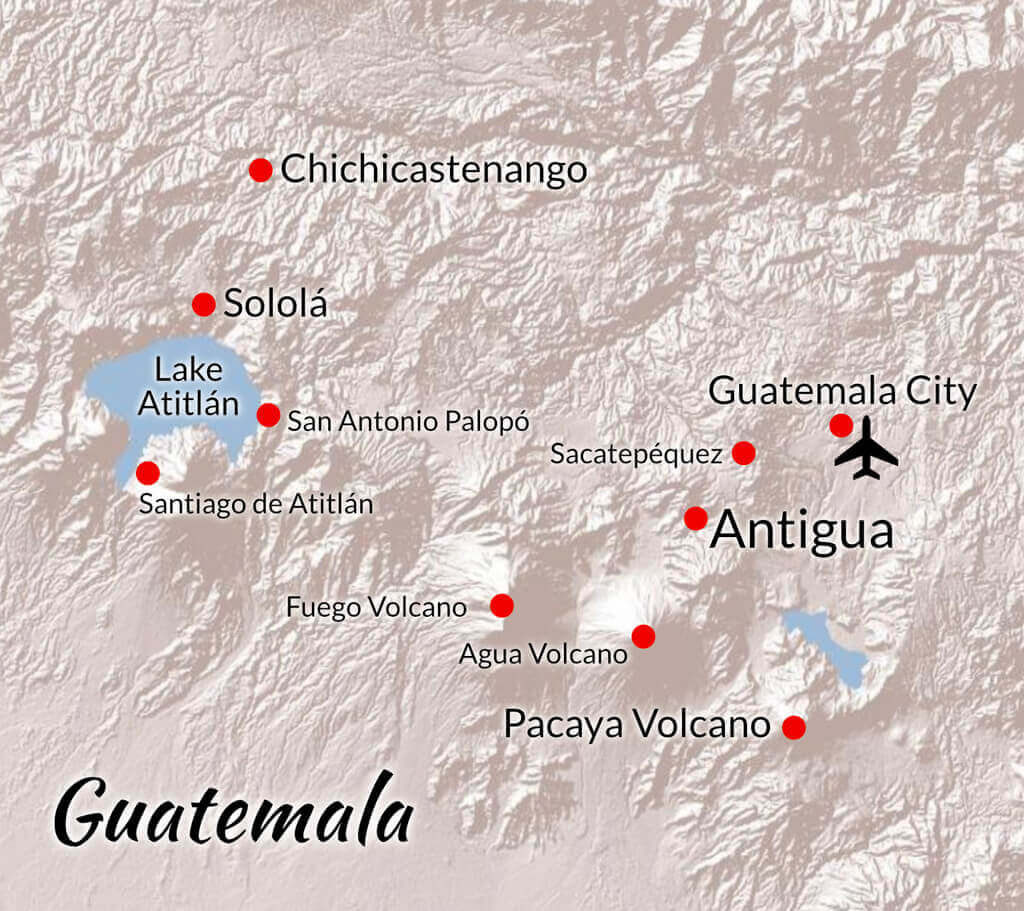 Guatemala Wilderness Medicine CME Course map