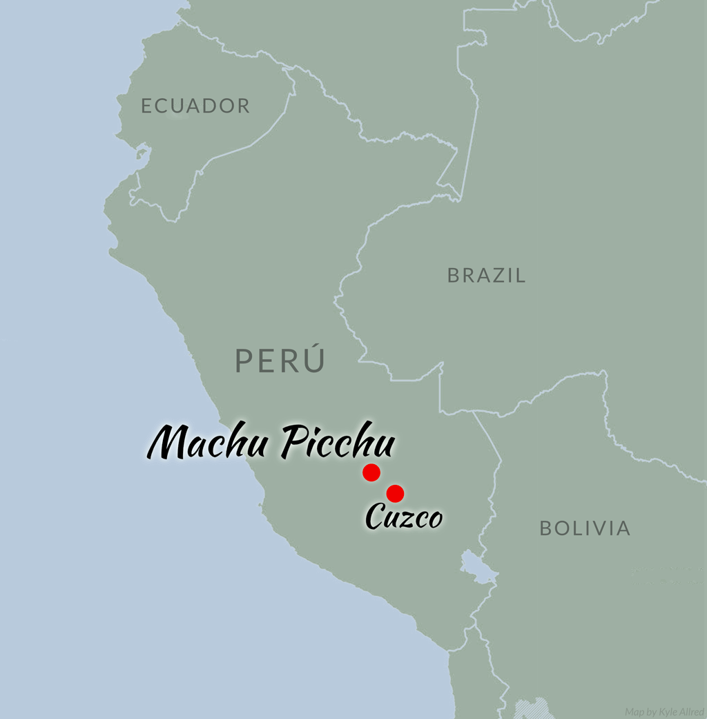 Peru CME inca trail cusco adventure travel map