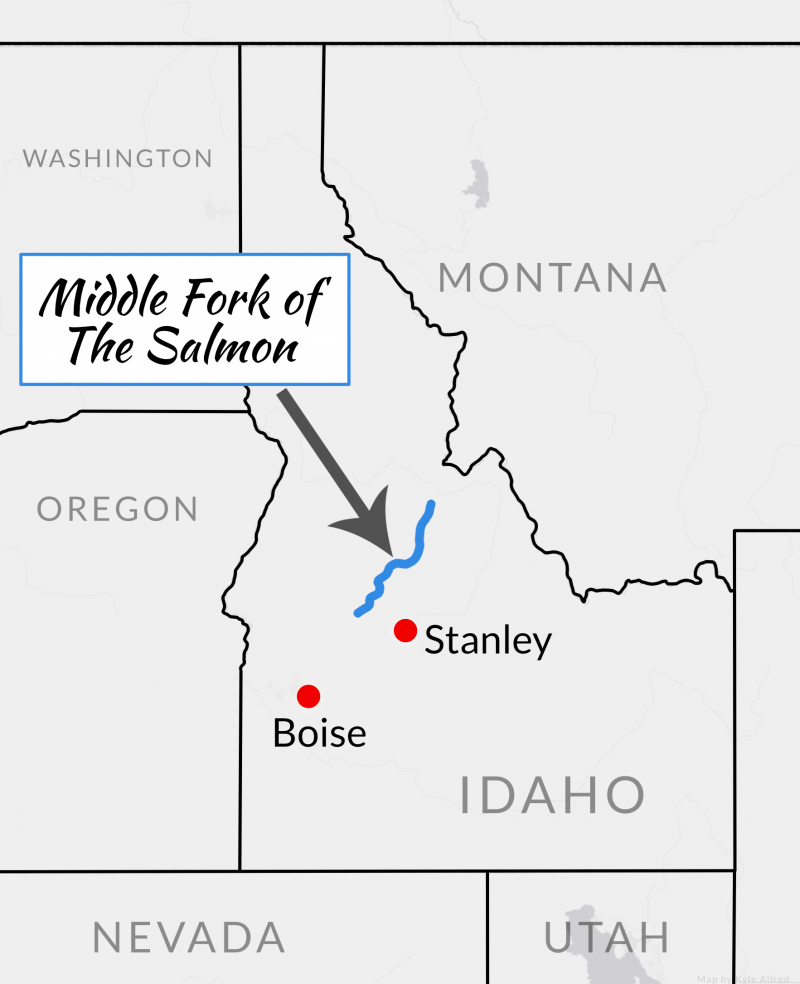 Salmon whitewater rafting travel CME Idaho