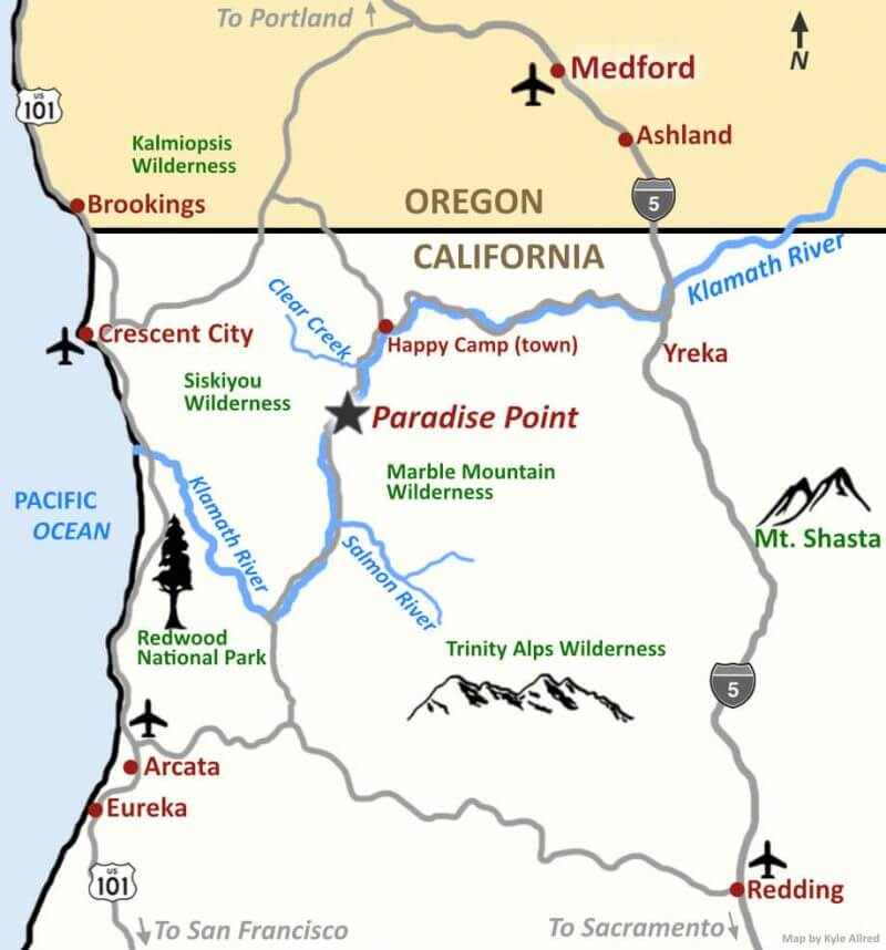 Map of Wilderness Medicine CME Field Course