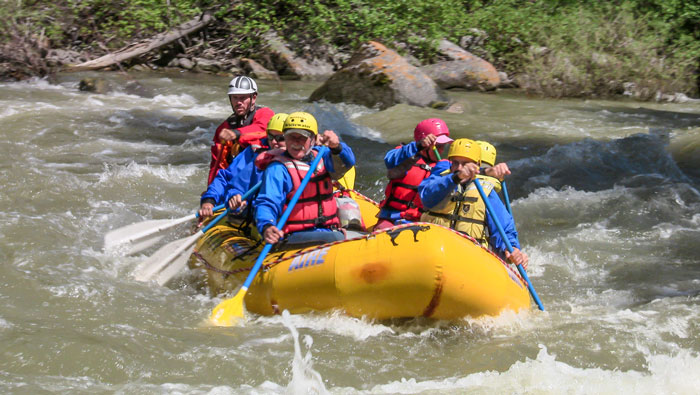cme conference recreation - white water rafting