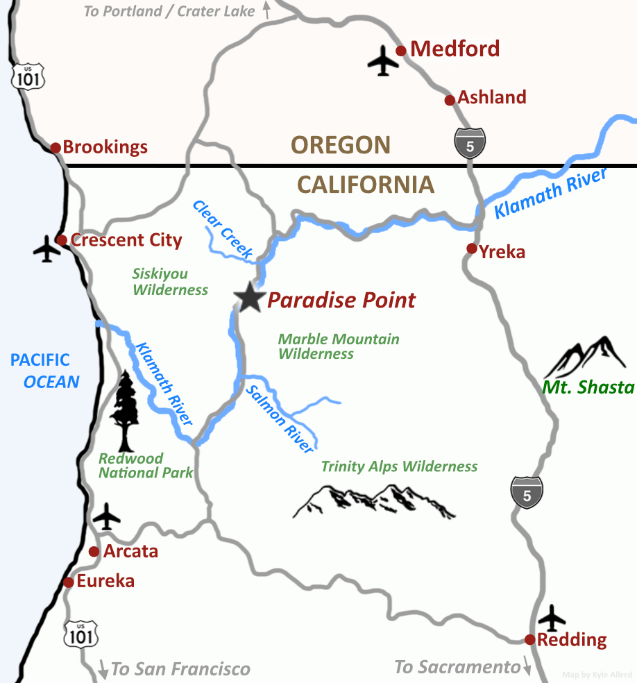 Paradise Point on Wilderness Medicine Map