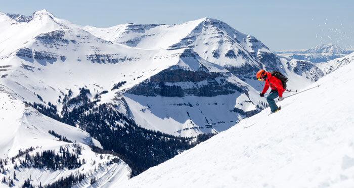 Big Sky Winter conference skiier