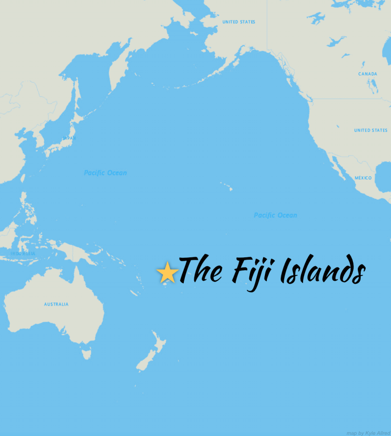 Map of Fiji for Adventure CME