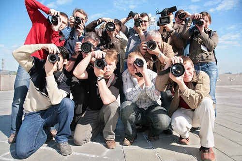 photographers in a group