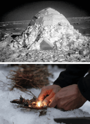 wilderness survival in the snow