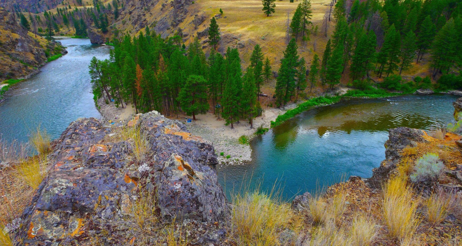 middlefork river landscape