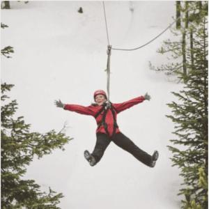 Big Sky Winter Zipline Wilderness Medicine