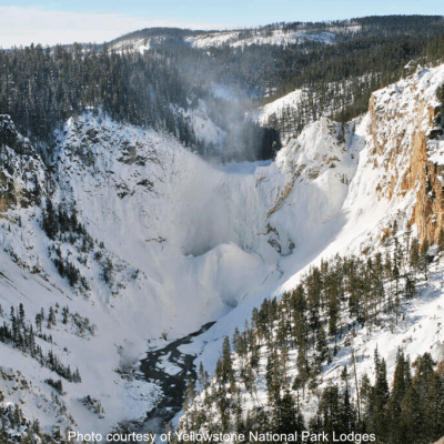 Yellowstone Falls in Winter